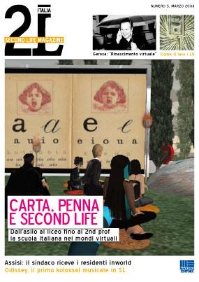 Second Life Magazine marzo 2008 - copertina
